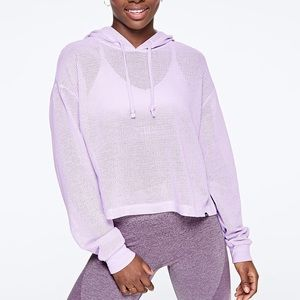 NEW💕VS PINK LILAC MESH SLOUCHY PULLOVER HOODIE